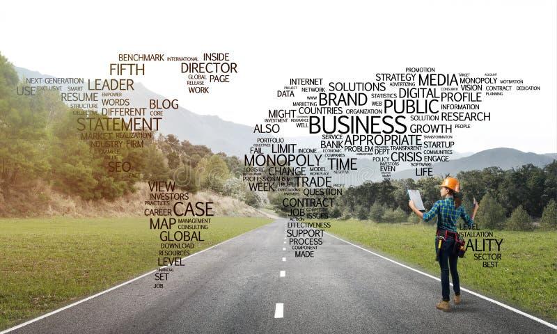 De wegen verbinden de wereld royalty-vrije stock afbeelding