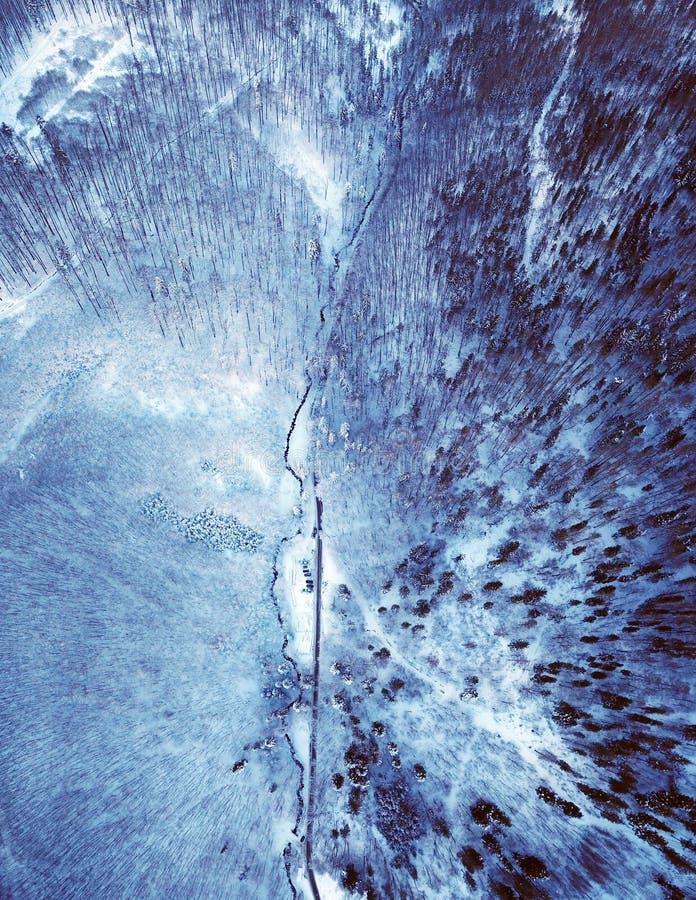 De weggrens van de de winterberg royalty-vrije stock foto's