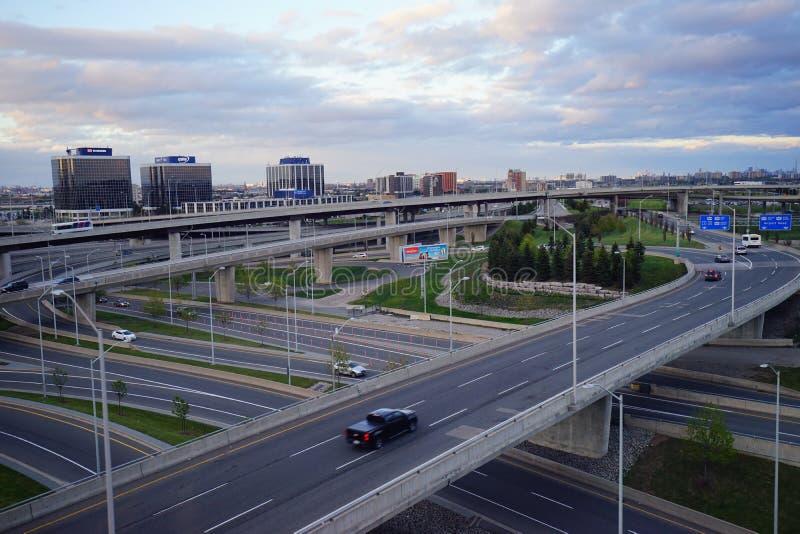 De wegnacht van Toronto stock foto