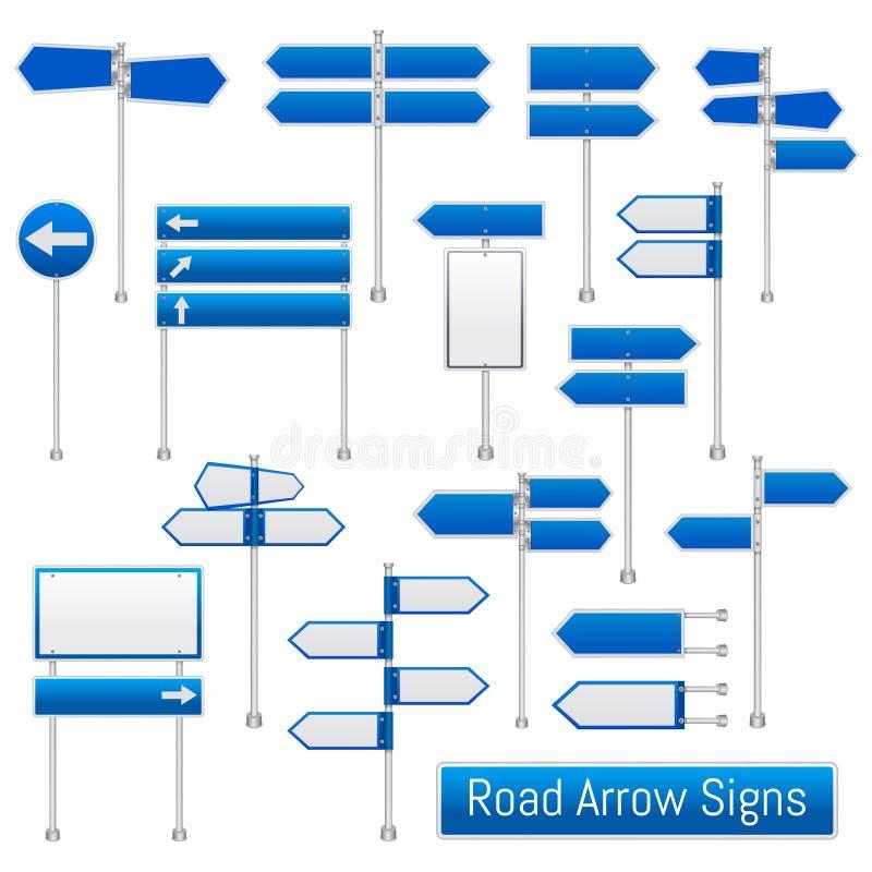 De wegpijl ondertekent Realistische Reeks stock illustratie