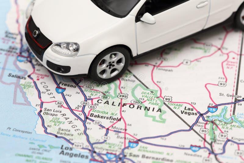 De wegreis van Californië royalty-vrije stock afbeeldingen