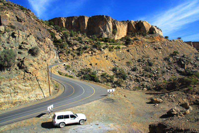 De wegreis van Oman royalty-vrije stock afbeelding