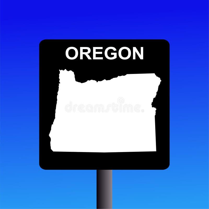 De wegteken van Oregon vector illustratie