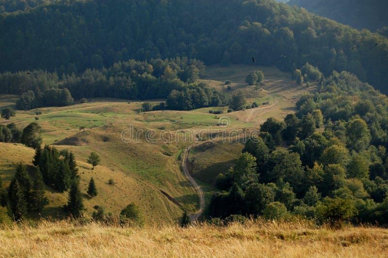 De wegweg van de berg royalty-vrije stock foto's
