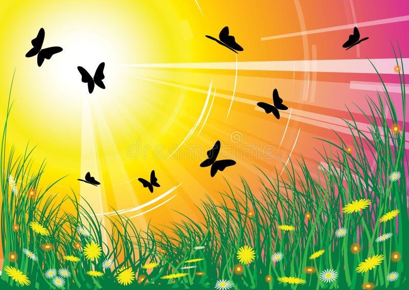 De weide van de lente stock illustratie