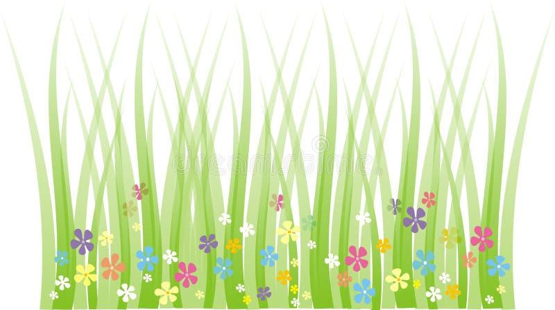 De weide van de lente vector illustratie