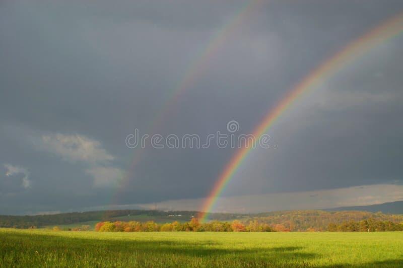 De weide van de regenboog royalty-vrije stock afbeeldingen