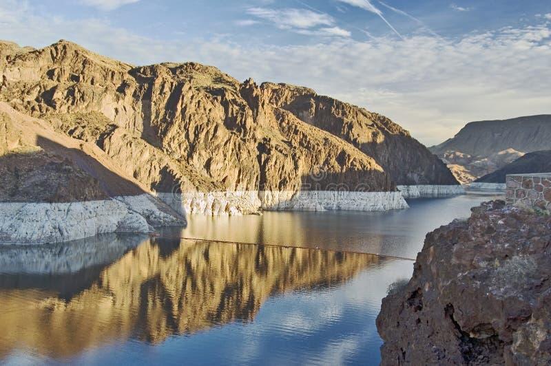 De Weide van het meer dichtbij Dam Hoover stock foto's