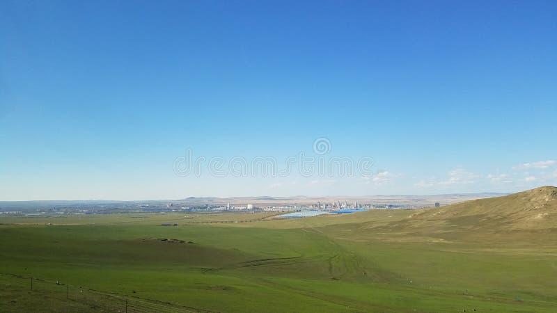 De weide van Hulunbuir, de Bewonderde Wereld stock fotografie