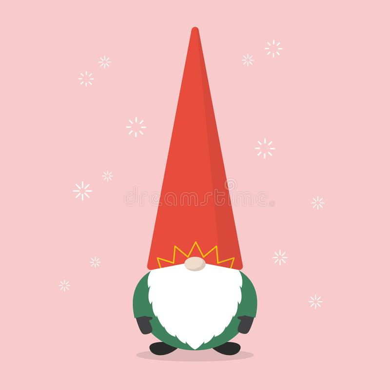 De weinig Kerstman vector illustratie