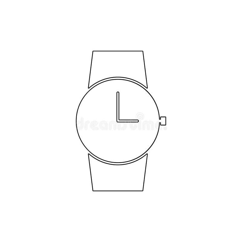 De wekkertijd wacht het pictogram van het horlogeoverzicht De tekens en de symbolen kunnen voor Web, embleem, mobiele toepassing, vector illustratie