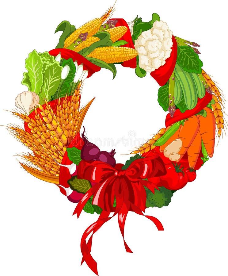 De Welkome groenten van de herfst vector illustratie