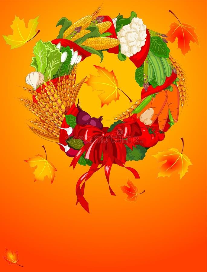 De Welkome oogst van de herfst vector illustratie