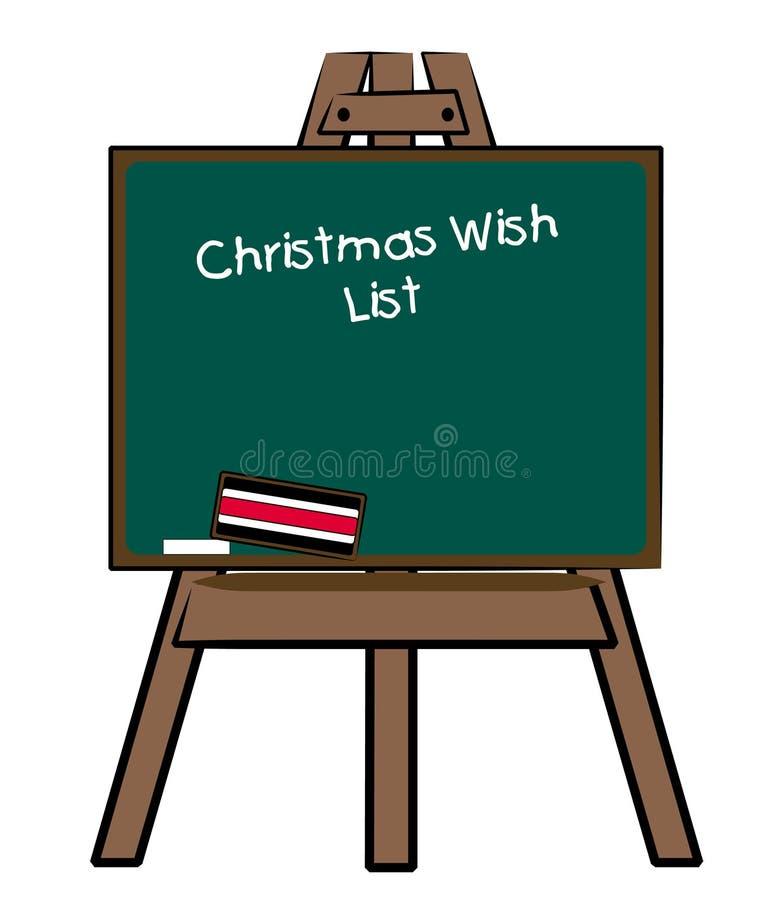 De wenslijst van Kerstmis stock illustratie