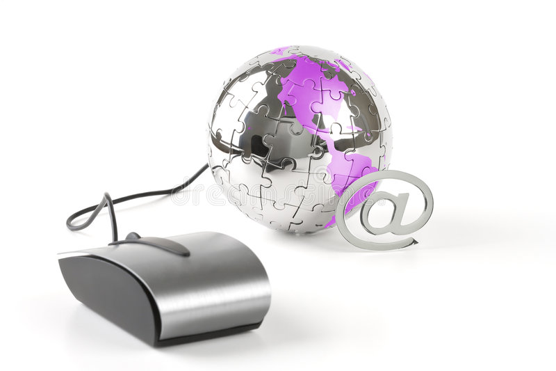 De wereld in een klik royalty-vrije stock afbeelding