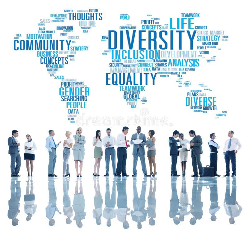 De Wereld Globaal Communautair Concept van het diversiteitsbehoren tot een bepaald ras stock fotografie