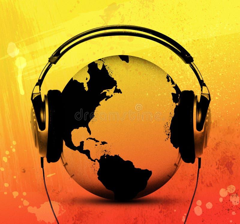 De wereld luistert stock illustratie
