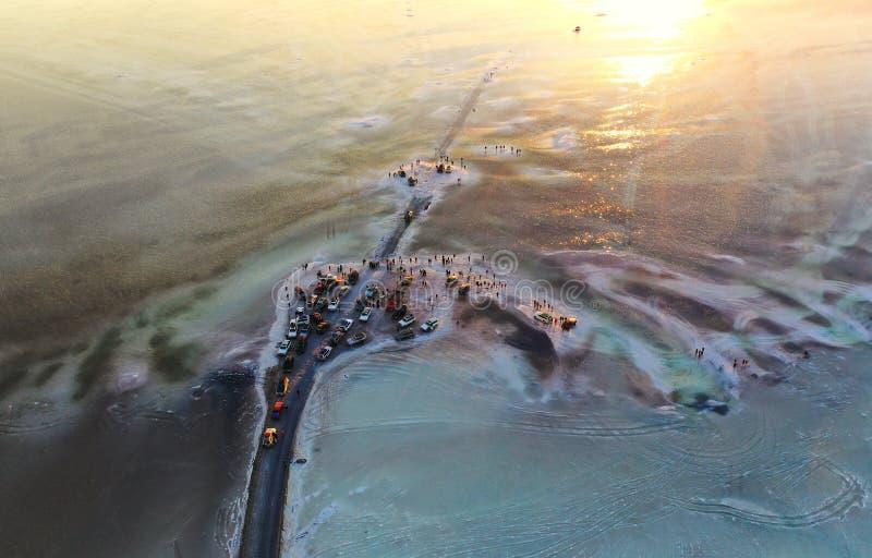 De wereld` s grootste zoute vlakte, Salar de Uyuni stock afbeeldingen
