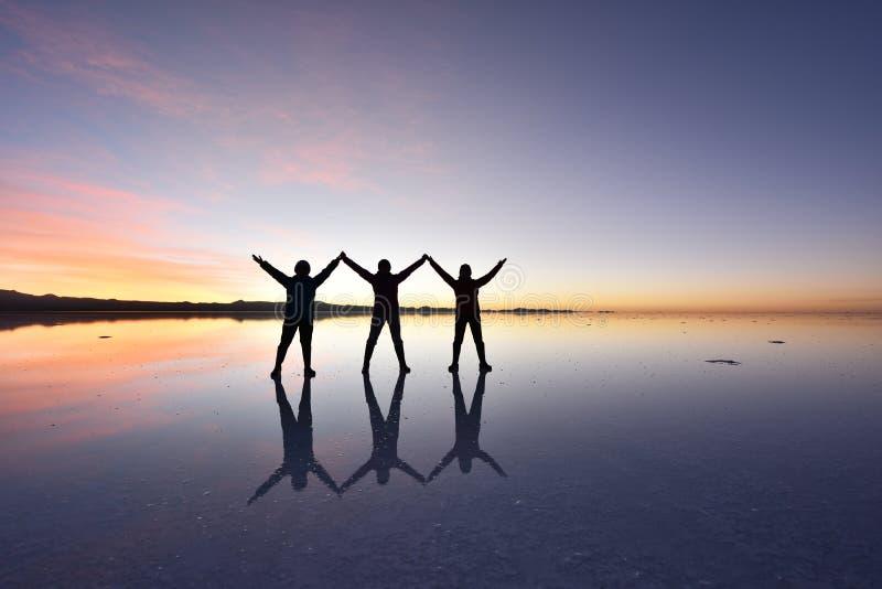 De wereld` s grootste zoute vlakte, Salar de Uyuni royalty-vrije stock fotografie