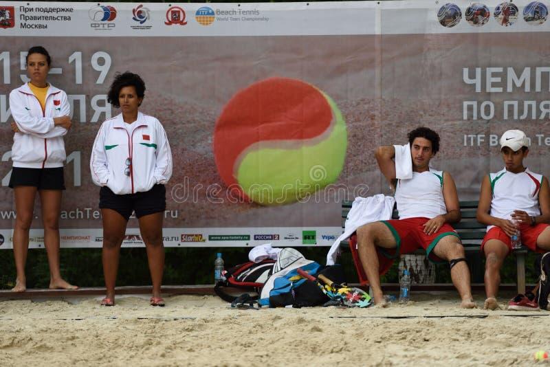 De Wereld Team Championship 2015 van het strandtennis royalty-vrije stock foto