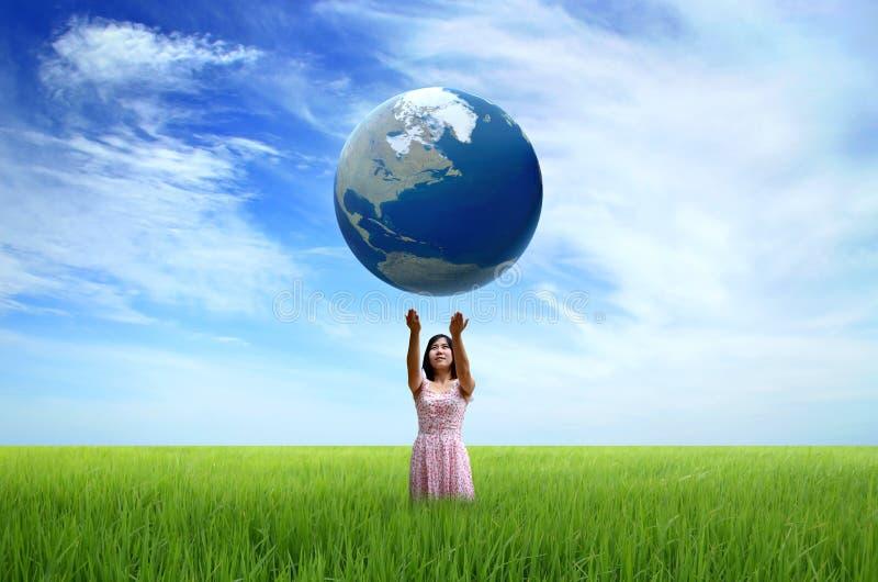 De wereld in uw handen stock foto's