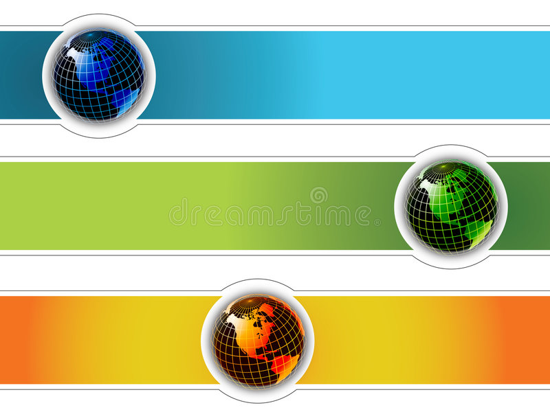 De wereld van de banner stock illustratie