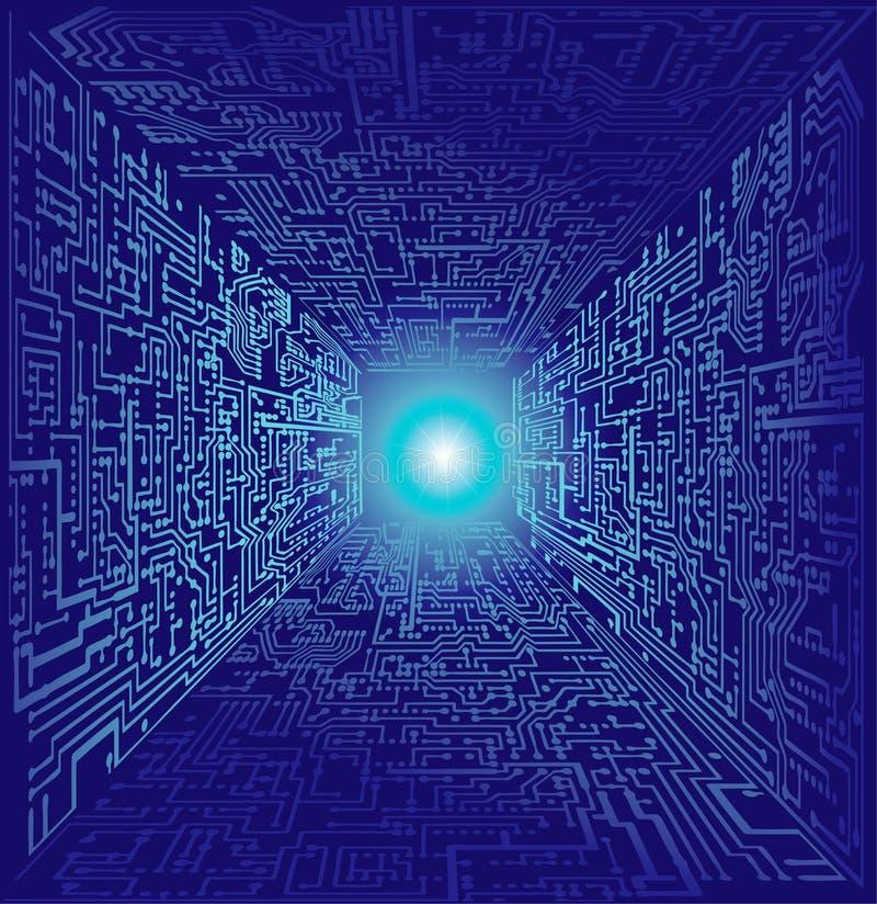 De wereld van de computer vector illustratie