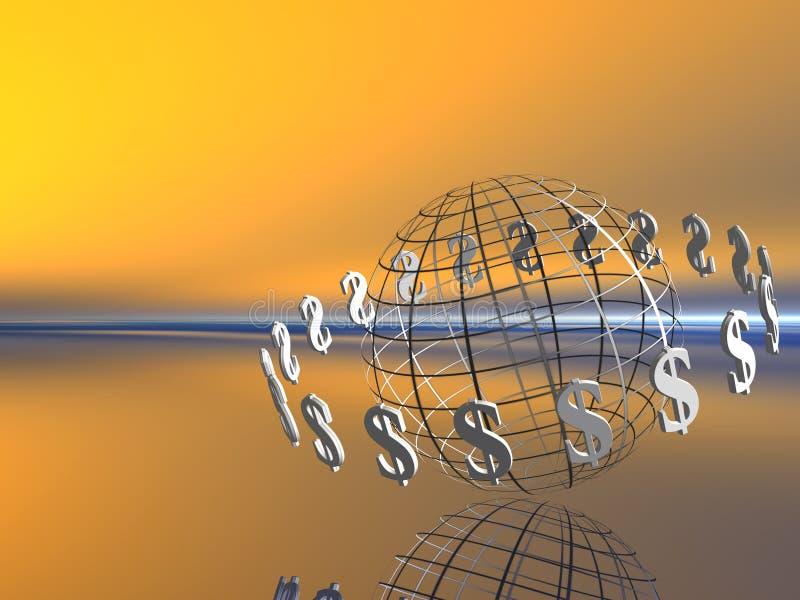 De wereld van de dollar. royalty-vrije illustratie