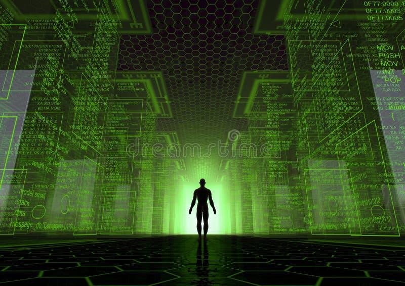 De wereld van de hakker stock illustratie