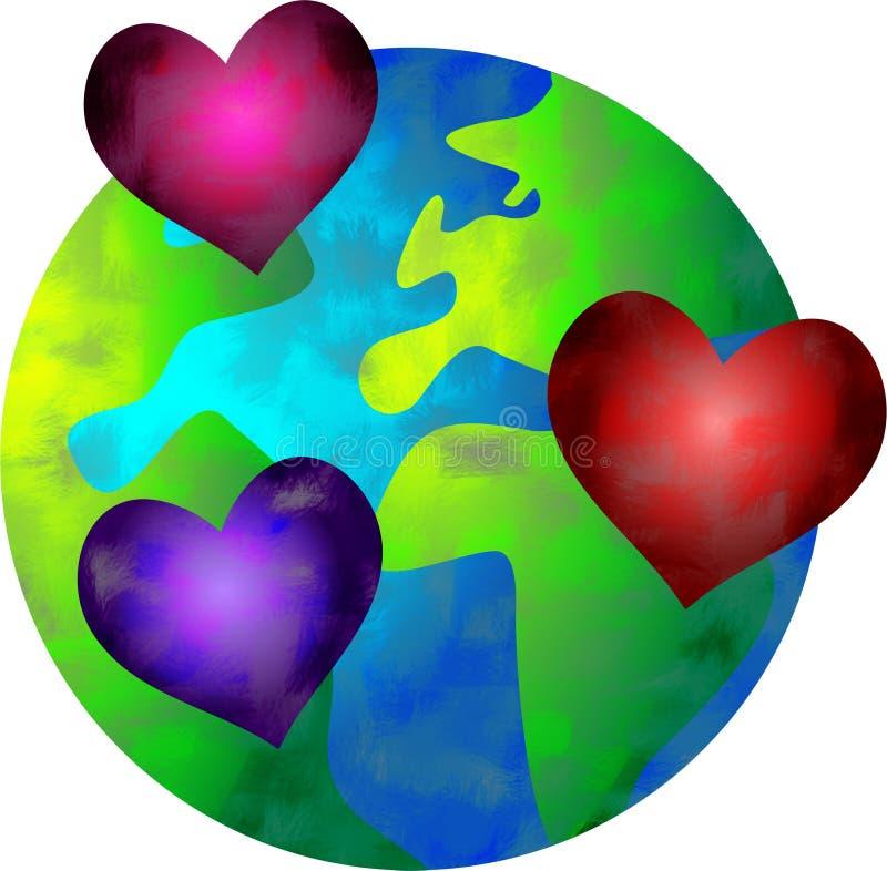 De wereld van de liefde stock illustratie