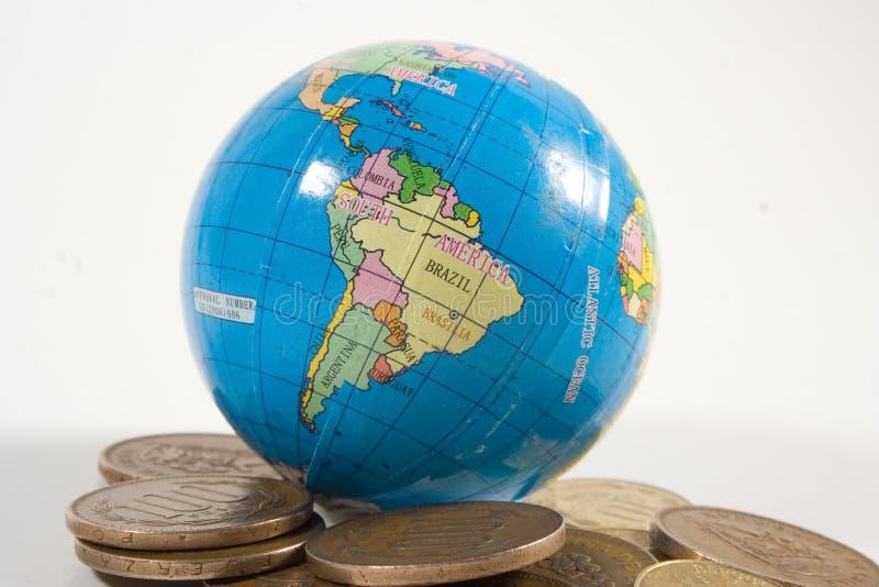 De Wereld van de Steun van het geld stock fotografie