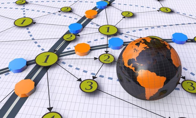 De wereld van de technologie royalty-vrije illustratie