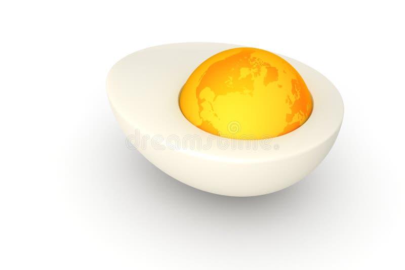 De Wereld van het ei stock illustratie