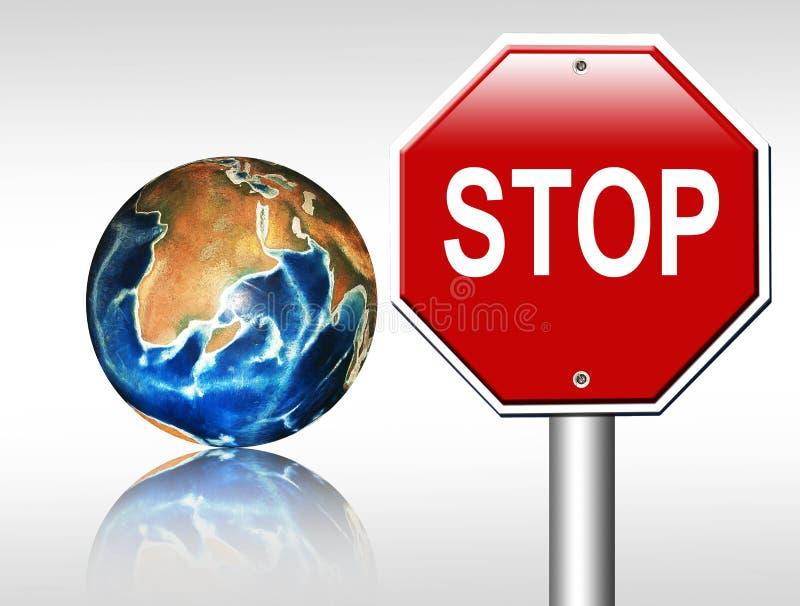 Download De wereld van het einde stock illustratie. Illustratie bestaande uit signaal - 10781038