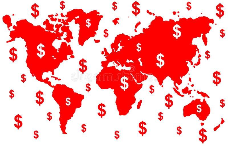 De wereld van het geld vector illustratie
