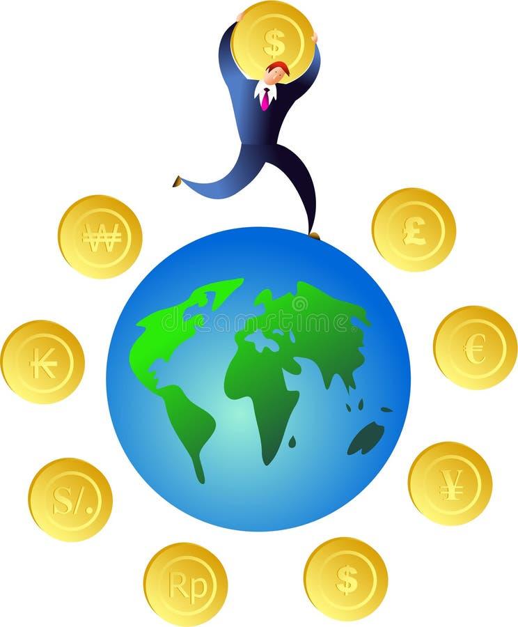 De wereld van het geld royalty-vrije illustratie
