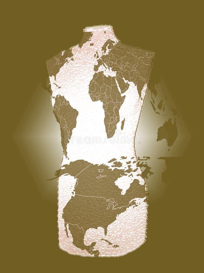 De Wereld van het torso stock afbeeldingen