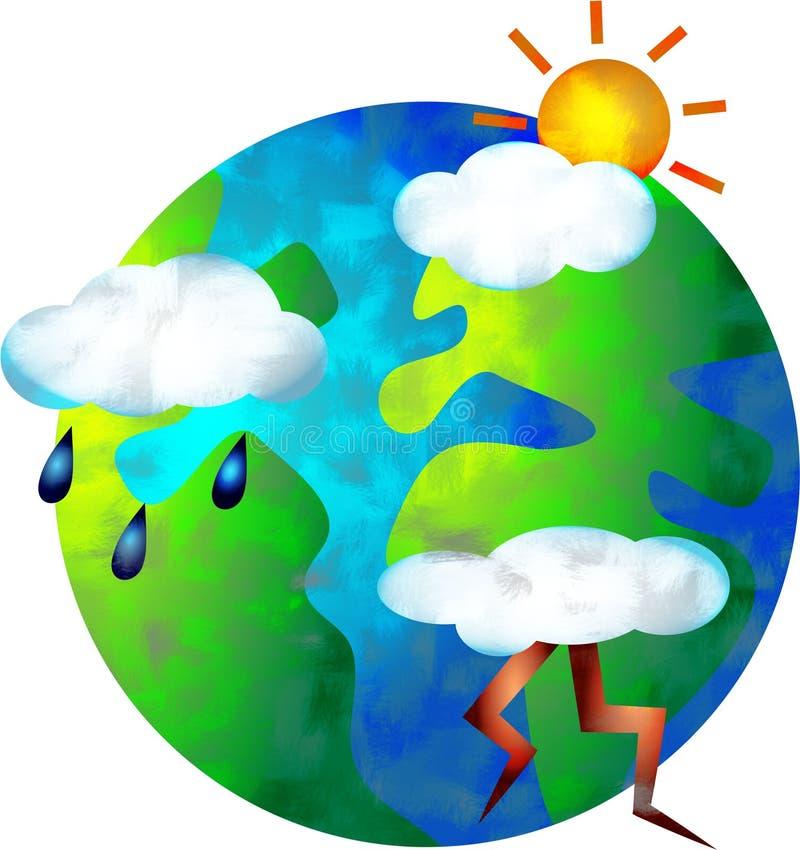 De wereld van het weer royalty-vrije illustratie