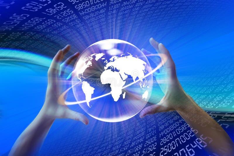 De wereld van Internet www stock illustratie