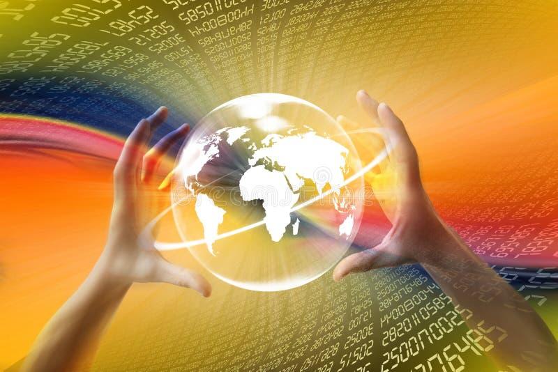 De wereld van Internet www royalty-vrije illustratie