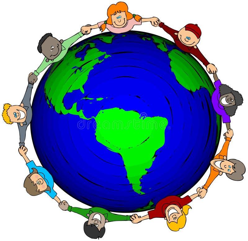 De Wereld van jonge geitjes royalty-vrije illustratie