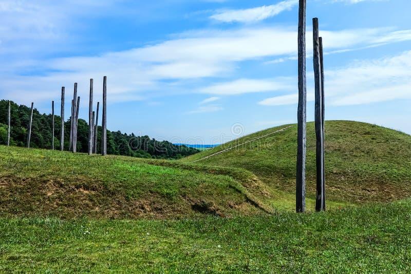 De wereld van kelten - Archeologisch Park en Museum in Glauberg, Hesse, Duitsland stock foto