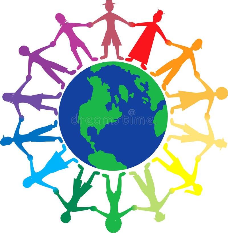De Wereld van mensen stock illustratie
