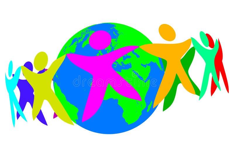 De Wereld van mensen vector illustratie