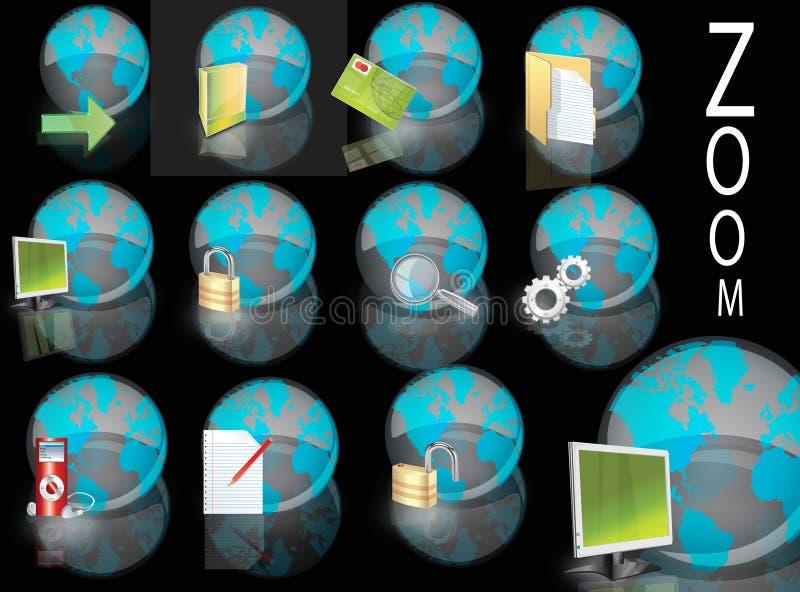 De wereld van pictogrammen vector illustratie