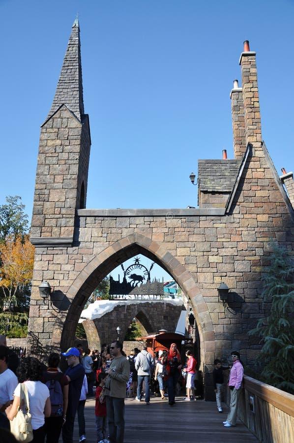 De Wereld van Wizarding van Harry Potter stock foto