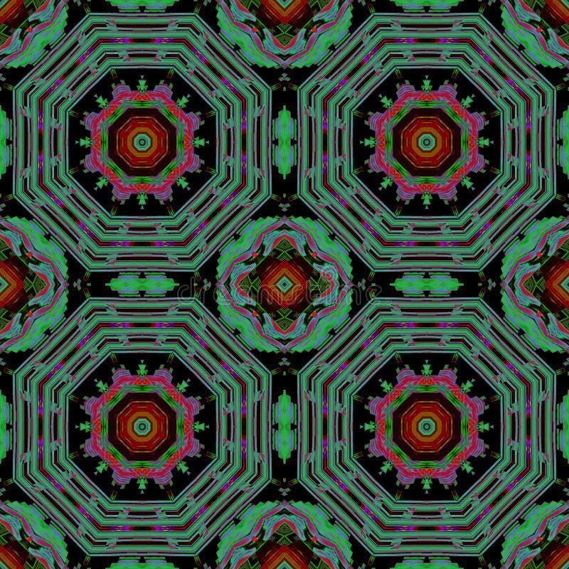 In de wereld van zeer interessante multi-colored patronen stock foto