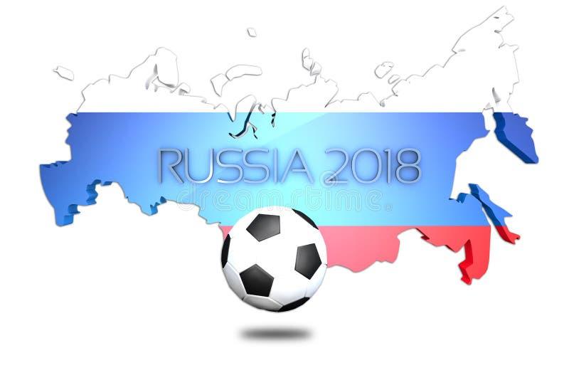De Wereldbeker 2018 landschap van Rusland stock illustratie