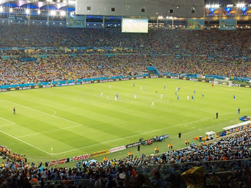 2014 de Wereldbeker van FIFA Brazilië - Argentinië versus Bosnië-Herzegovina stock foto