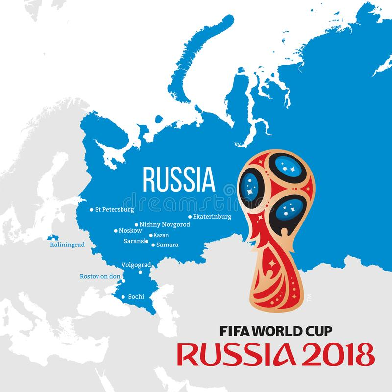 De wereldbeker 2018 van Rusland stock illustratie